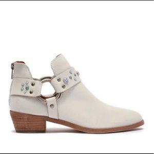 FRYE Women's Ray Stone Harness Back Zip Ankle boot